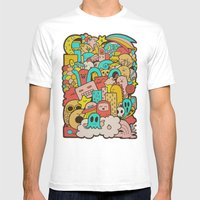 Doodleicious Mens Fitted Tee White SMALL