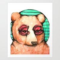 Poppies For Eyes Art Print