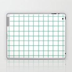 Grid (Mint/White) Laptop & iPad Skin