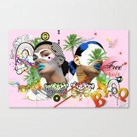 Free Love Canvas Print