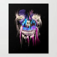 Face Illustration 5 Canvas Print