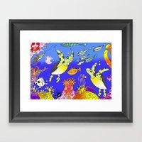Sea Turtles Framed Art Print