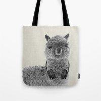 Portrait of Alpaca Tote Bag