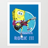 i wanna rock !!! Art Print
