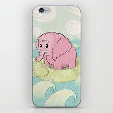 Elephant Across The Sea iPhone & iPod Skin