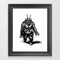 La Créature/The Creature Framed Art Print