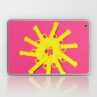 Gun Flower On Pink Laptop & iPad Skin