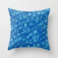 Feeling Blue Bokeh Throw Pillow