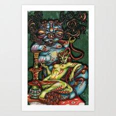 Mentalice and the Caterpillar Art Print