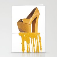 Dripping Yellow Shoe Stationery Cards