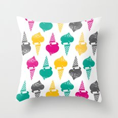 Gelati! Gelati! Gelati! Throw Pillow
