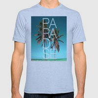 PARADISE Mens Fitted Tee Athletic Blue SMALL