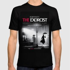 Mary Poppins in the Exorcist Mens Fitted Tee Black SMALL