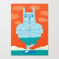 Zen Rabbit Canvas Print