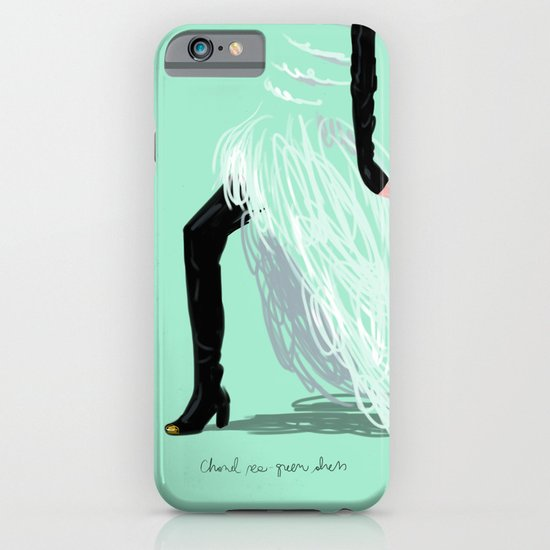 #theFIserie: Chanel sea-green dress iPhone & iPod Case