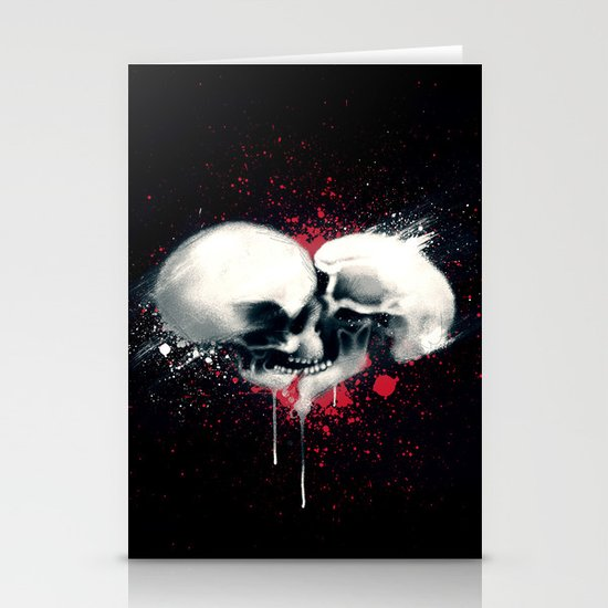 Death Lovers Stationery Card