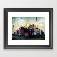 A New York City Street Framed Art Print