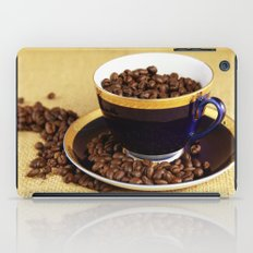 Blue coffee cup kitchen image iPad Case