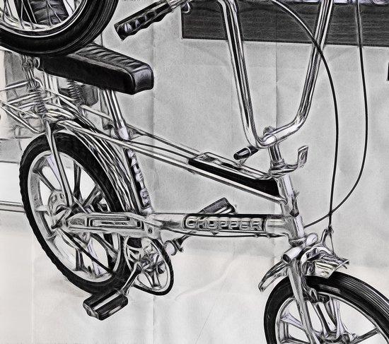 70s Iconic Bike Uk Art Print