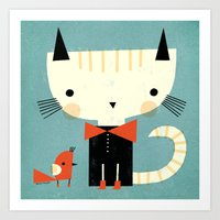 TINY RED BOOTS Art Print