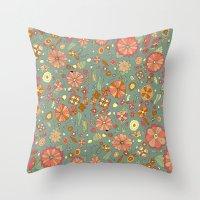 Mandarinas Throw Pillow