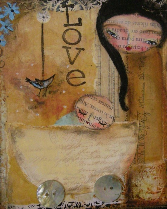 Love - mother and baby Art Print