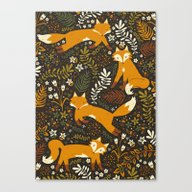 Fox Tales Canvas Print
