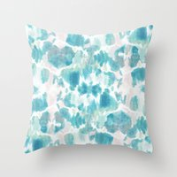 BOHEMIAN ACQUA CAMO Throw Pillow