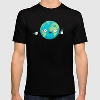 Alearth Mens Fitted Tee Black SMALL