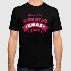 Best Xmas ever Black SMALL Mens Fitted Tee