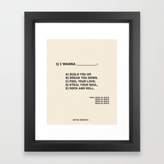 Brick By Brick Framed Art Print