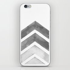 Grey Watercolor Chevron Art iPhone & iPod Skin