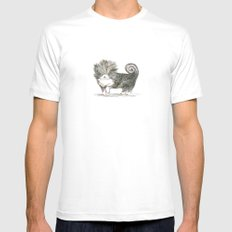 Fancy Pup SMALL White Mens Fitted Tee