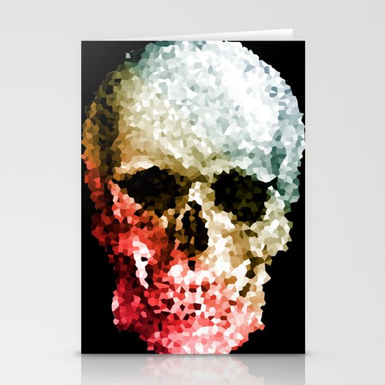 Skull Coloride Stationery Card