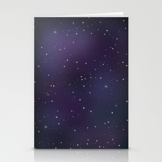 Galaxy Stationery Card