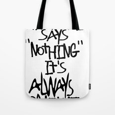 Some advice. Tote Bag