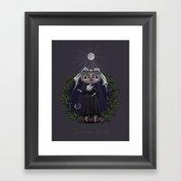 Sous La Lumière De La Lune Framed Art Print