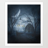 Two Lone Wolves Art Print
