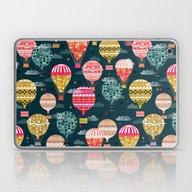 Hot Air Balloons - Retro… Laptop & iPad Skin