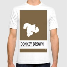 No37 My Minimal Color Code poster Donkey Kong Mens Fitted Tee White SMALL