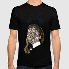 Playboy Bunny Girl SMALL Black Mens Fitted Tee