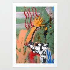 Reach and touch Art Print