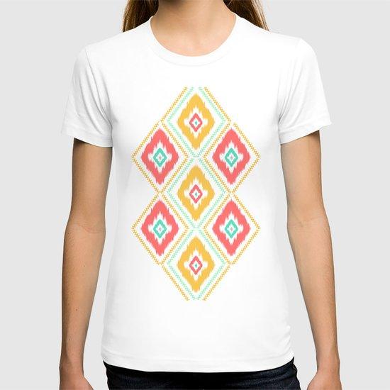 Zig Zag Ikat (white) T-shirt