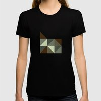 Geometric Oregon Womens Fitted Tee Black SMALL