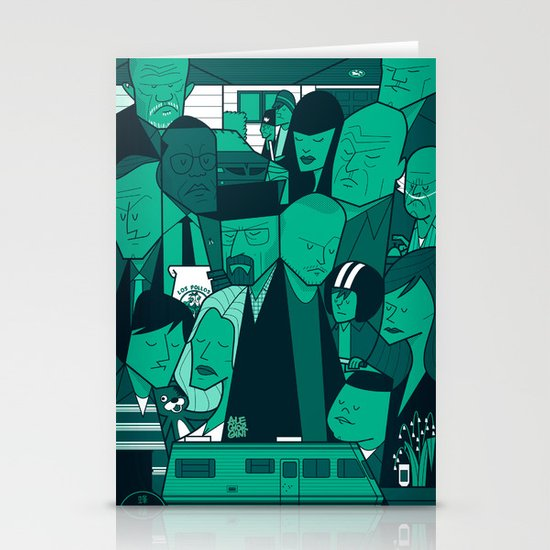 Breaking Bad (green version) Stationery Card