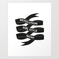 Revolution Girl Style Now! Typographic Banner Art Print