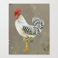 Rooster Wallace Canvas Print