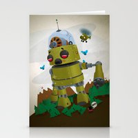 Monster Robot Toy Stationery Cards