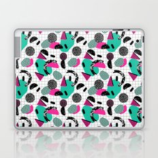 Cha Ching - abstract throwback memphis retro 80s 90s pop art grid shapes Laptop & iPad Skin