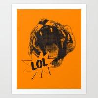 Jozzuv Lol (Orange) (Lig… Art Print